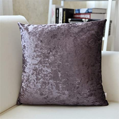 LIXUE Cojines Simple Modern Suede Big Pillow Color sólido ...
