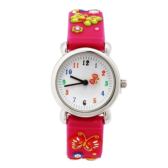 Eleoption Waterproof Kids Watch for Girls Boys Time Machine Analog Watch Toddlers Watch 3D Cute Cartoon Silicone Wristwatch Time Teacher for Little Kids Boys Girls Birthday