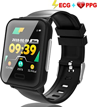 TURNMEON Fitness Tracker ECG&PPG, Waterproof Activity Smart Watch with Heart Rate Blood Pressure&Oxygen Sleep Monitor, Pedometer, Calorie, Sports ...