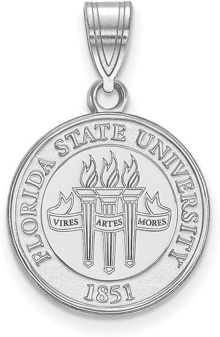FB Jewels Sterling Silver LogoArt Auburn University Medium Pendant in Circle