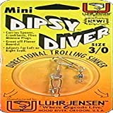 Luhr Jensen Mini Dipsy Diver, Clear/Clear Bottom, 2 1/4-Inch