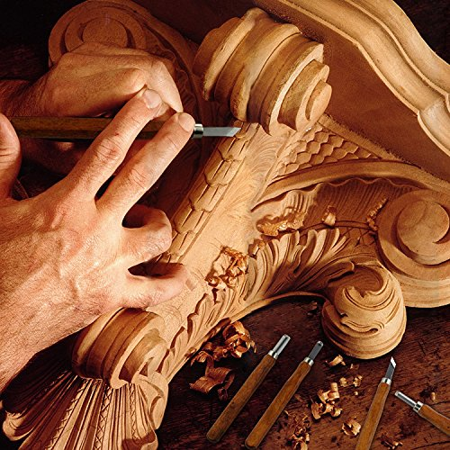 Wood Carving Set Kwow Sk5 Carbon Steel Handle Wood