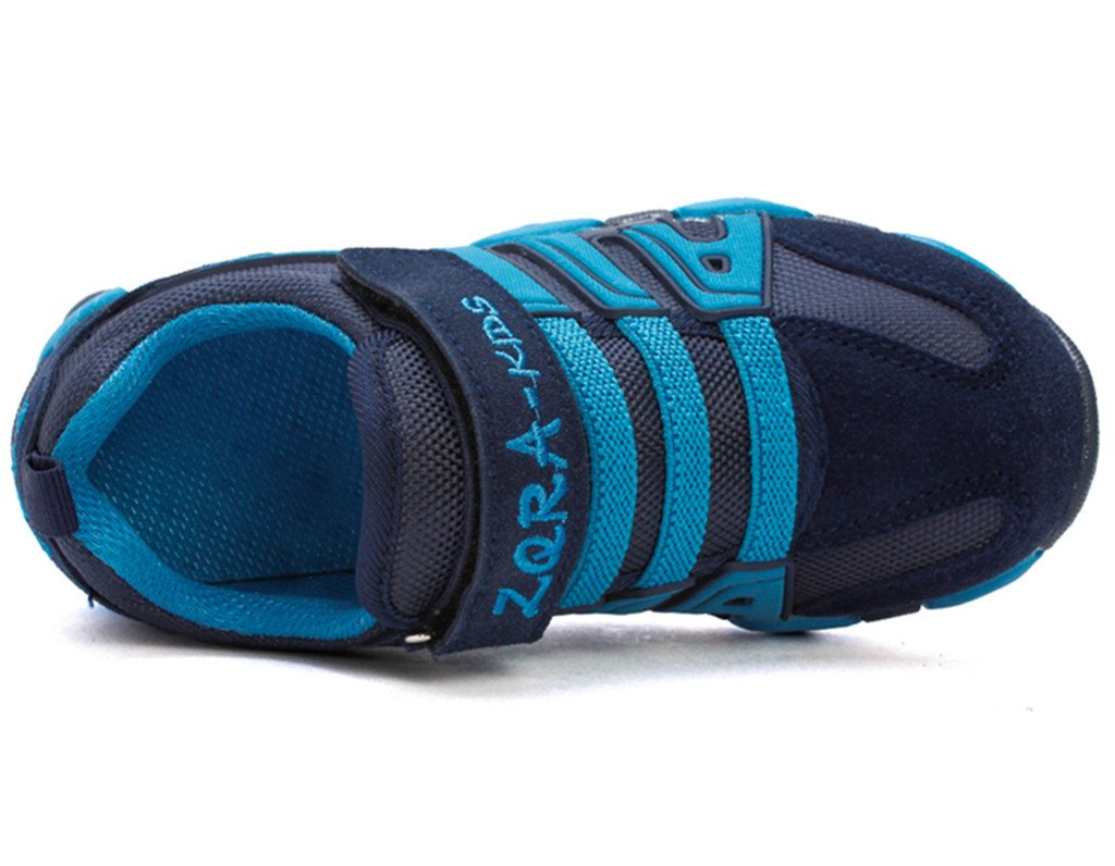 DADAWEN Boy's Girl's Casual Strap Light Weight Sneakers Running Shoes(Toddler/Little Kid/Big Kid) Blue US Size 5 M Toddler by DADAWEN (Image #4)
