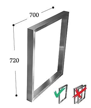 CHYRKA Estructura para tableros de Mesa Diseño pie de Mesa Acero Inoxidable 201, Comedor Mesa Estructura Pata (720x800 mm - 1 par): Amazon.es: Hogar