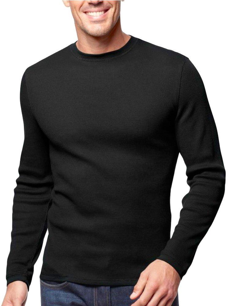 ToBeInStyle Men's Heavy Thermal Shirt - Black - Medium by ToBeInStyle