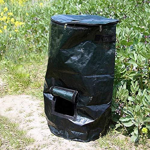 AloPW Yard Waste Bags 4580cm Garden Composter Bin Grow Bag Eco Friendly Organic Compost Storage Bag Dark Green Waste Converter Yard Garden Supplies