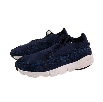 low priced 78030 d8308 Nike AIR Footscape Woven Nm Chaussures pour Hommes en Tissu Bleu ombragé  875797-400