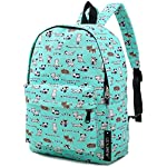 """Lily & Drew Lightweight Travel Backpack for Women and Teens 14 MEDIUM size 15-inch backpack. Please note there are two sizes: small and medium. This medium-sized backpack is 15.5"""" tall x 11.5"""" wide x 6.3"""" deep. Binders, folders and laptop computers will fit. See pictures and description for reference and further details. POCKETS. Two side pockets for water bottles, sun-glasses, etc. Front zippered pocket for small items such as pens, phone, etc. Large main compartment with heavy-duty double zippers for big items such as laptop, binder, books, notebook, folder, and more. PERFECT for laptop. Convenient internal sleeve is ideal for a 14-inch laptop computer, tablet or iPad. Perfect fit for MacBook, MacBook Air or MacBook Pro 13-inch. Maximum laptop size is about 13-1/2"""" x 10"""" x 1"""" thick."""