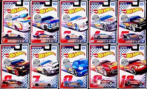 Hot Wheels 2017 Racing Circuit Set of 10 (Ford Falcon Set)