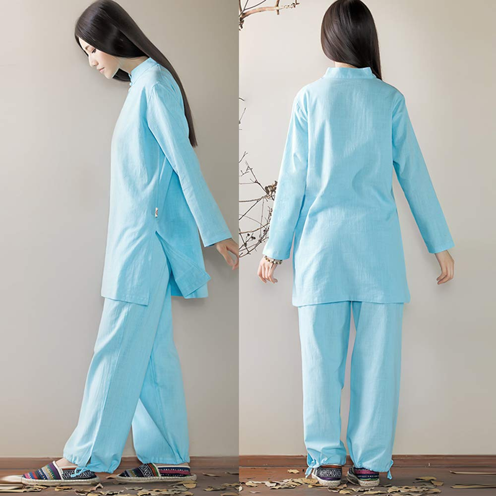 Amazon.com: KSUA Tai Chi Uniform Zen - Traje de meditación ...