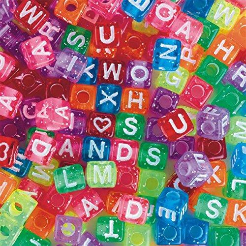 Message Alphabet Bead - Glitter Alphabet Beads 1/2 lb. Bag
