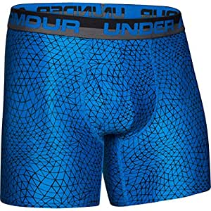 "Mens Under Armour The Original Printed 6"" Boxerjock (Hanging), Blue Jet, Small"