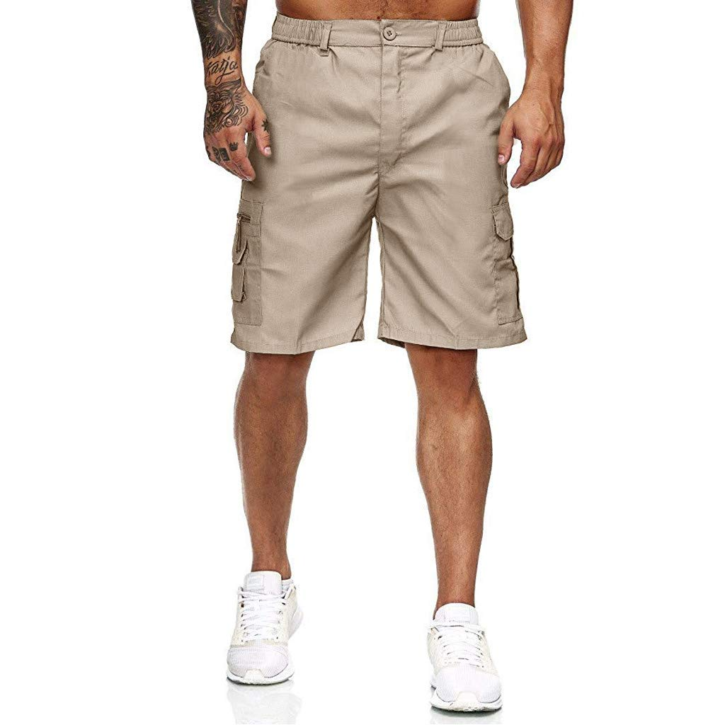 Alalaso Cargo Shorts for Men, Men's Outdoor Super Lightweight Quick Dry Stretchy Cargo Shorts with Multi Pockets Khaki