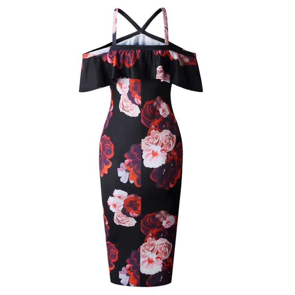 Hotkey/® Women Dresses Zipper Cocktail Party Evening Bodycon Dress Beach Sundress for Summer