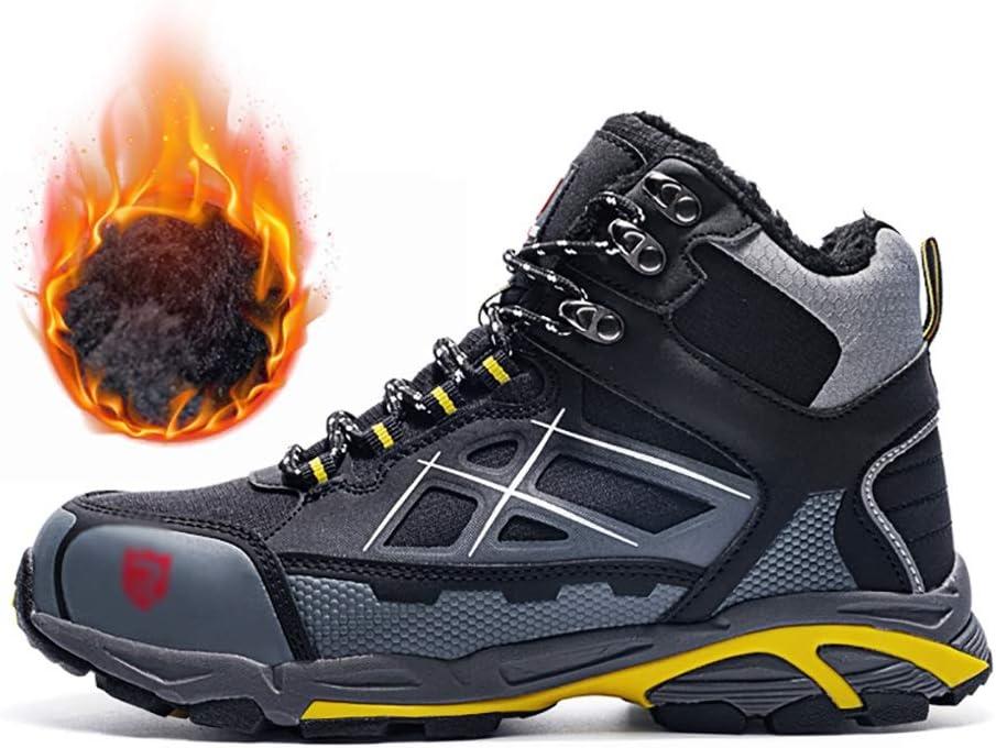 Zapatos de seguridad Deber zapatillas de deporte de los hombres del invierno pesado (CE / Certificación ASTM), Punta Acero casquillo a prueba de viento de arena siameses Zapatos de la lengüeta del