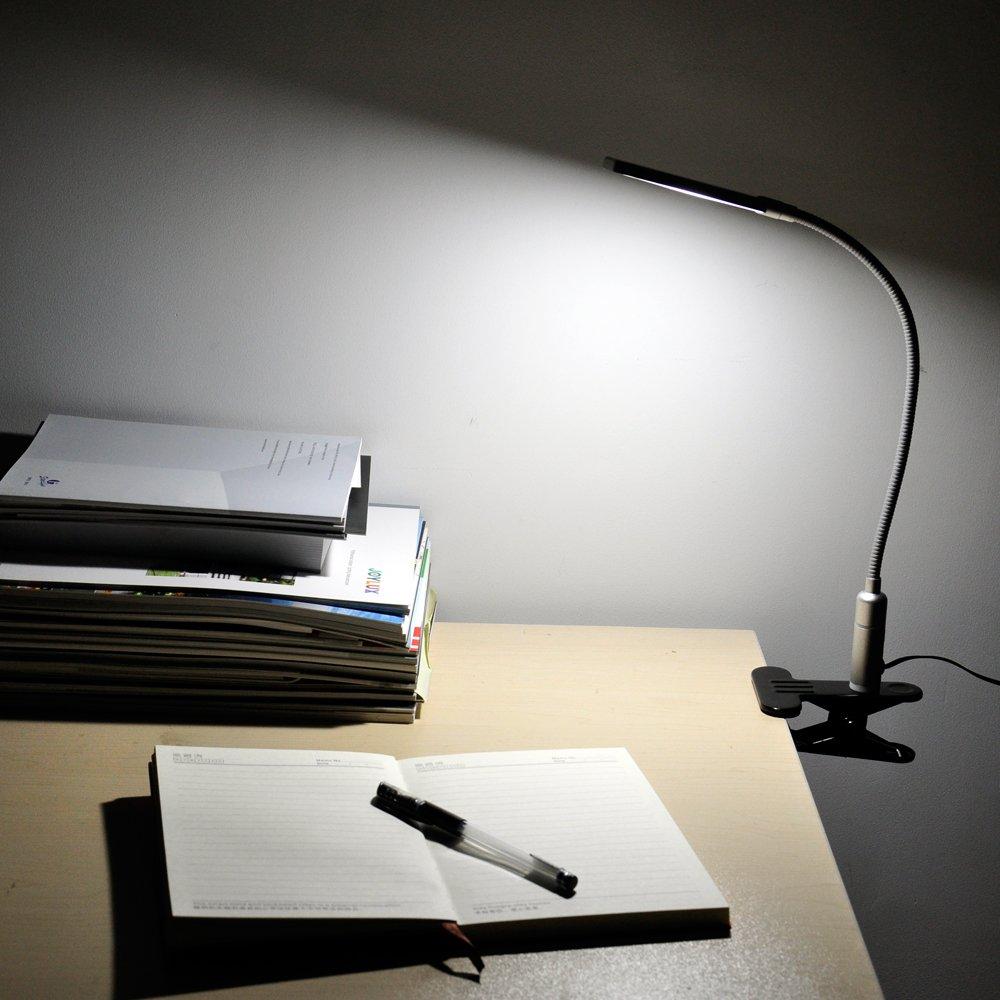 Estudio Metal5w Iluminacion Regulable De Con Led3 Fria Lectura Brillos Led Lampara Smd5630 Escritorio Tactil Luz Pinza Plateado Flexo toBrdxshQC