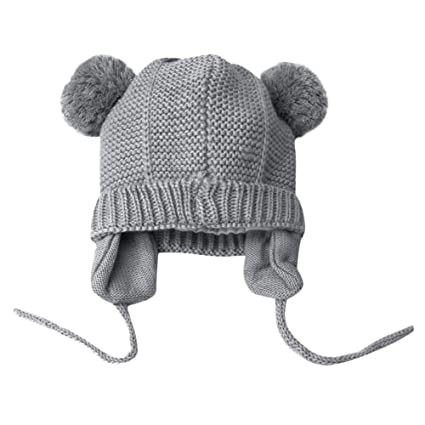 b66694aab40 Gbell Baby Winter Bonnet Hats- Toddler Infant Warm Crochet Knit Hat with  Ears - Beanie