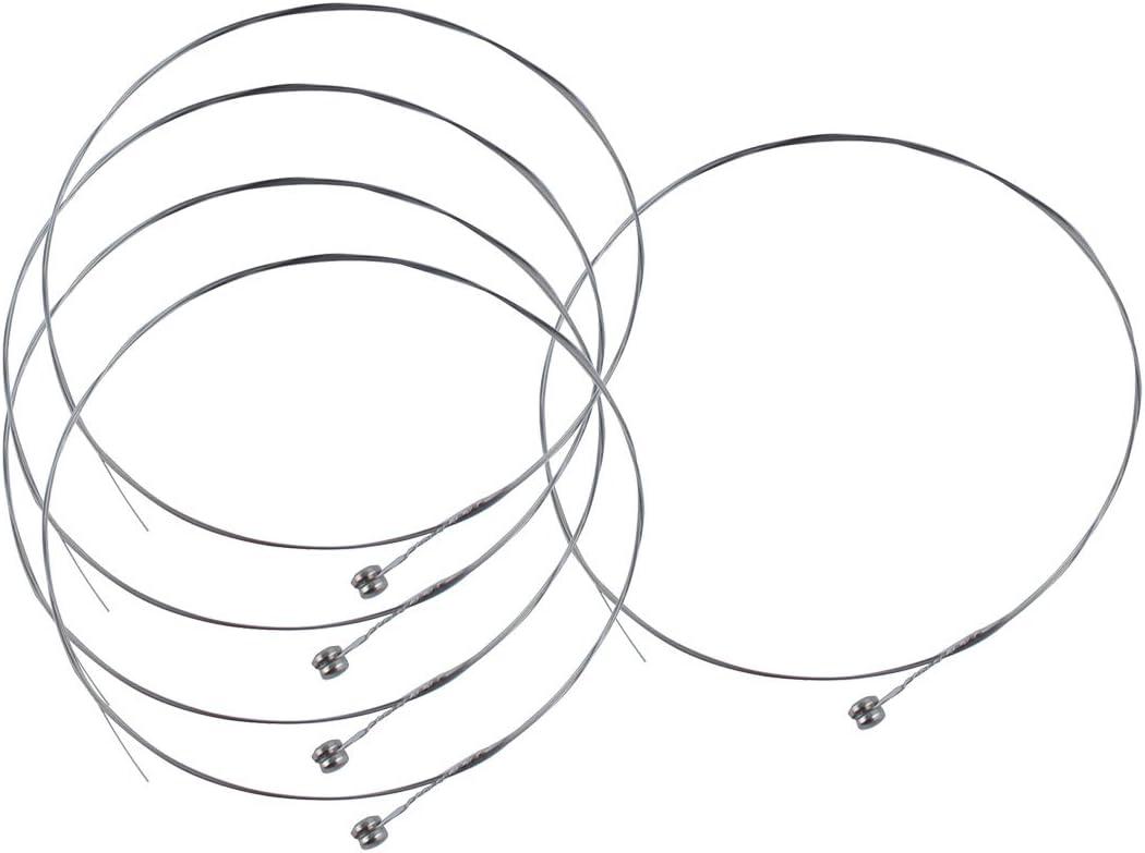 5 piezas tono plateado cuerdas de acero E-1 para guitarra acústica