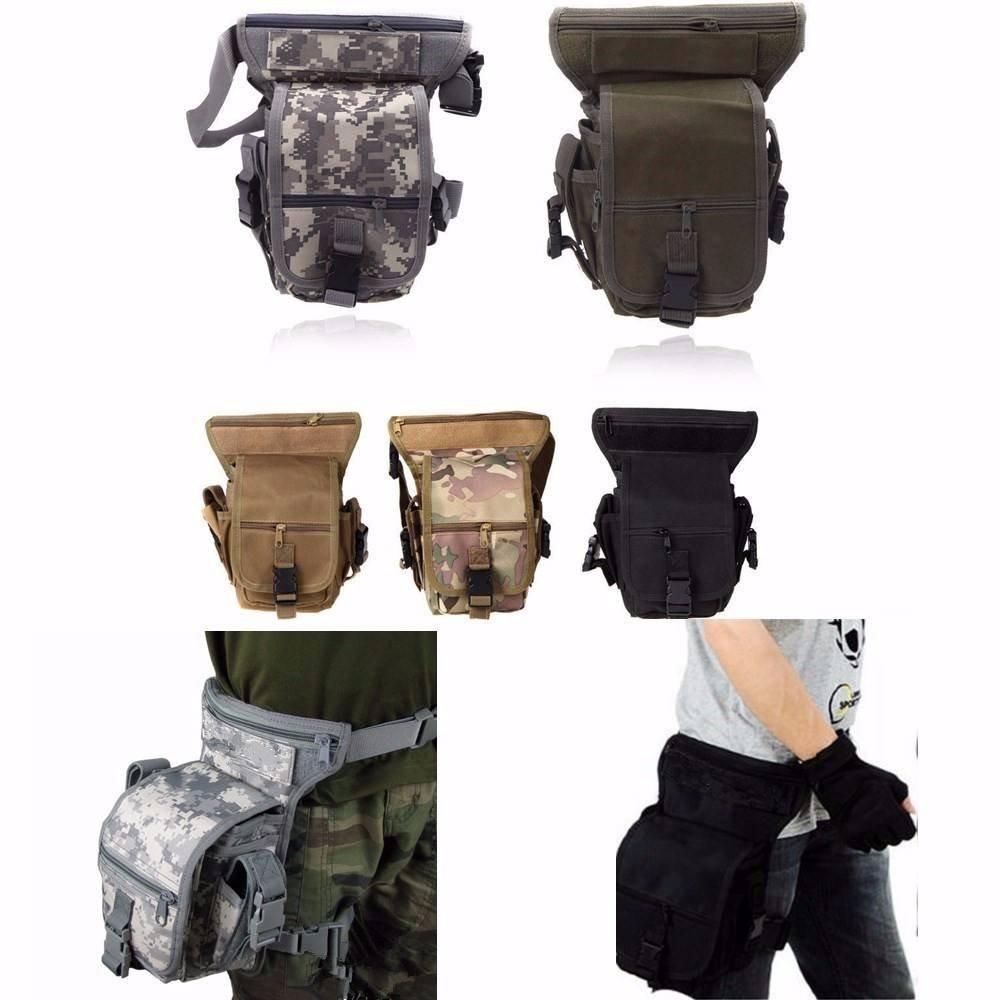 camtoa Tactical Hip Bag Sac Banane poche, jambe Sport Airsoft tactique militaire goutte jambe d'atelier Bag utilitaire Ceinture jambe Butin Antivol Sachet
