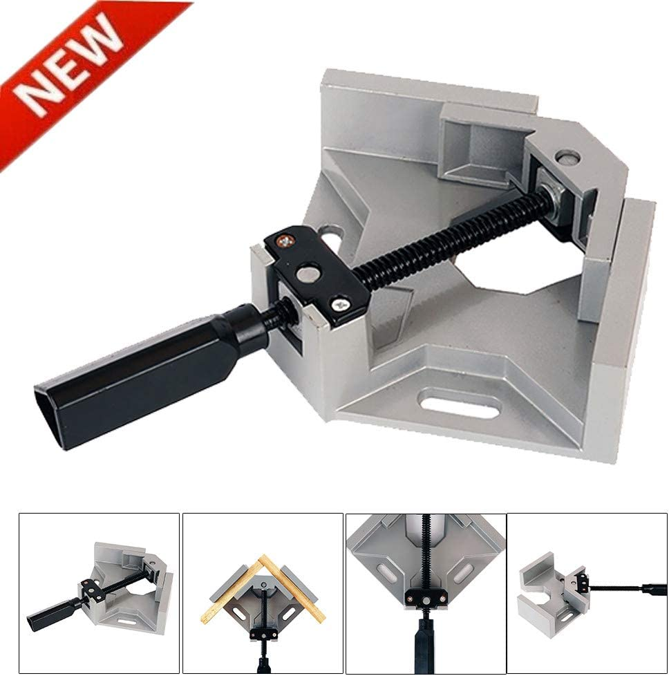 90/°Aluminum Alloy Right Angle Clamps woodworking Vice Wood Metal Single Handle Welding Black Clip Corner Clamp