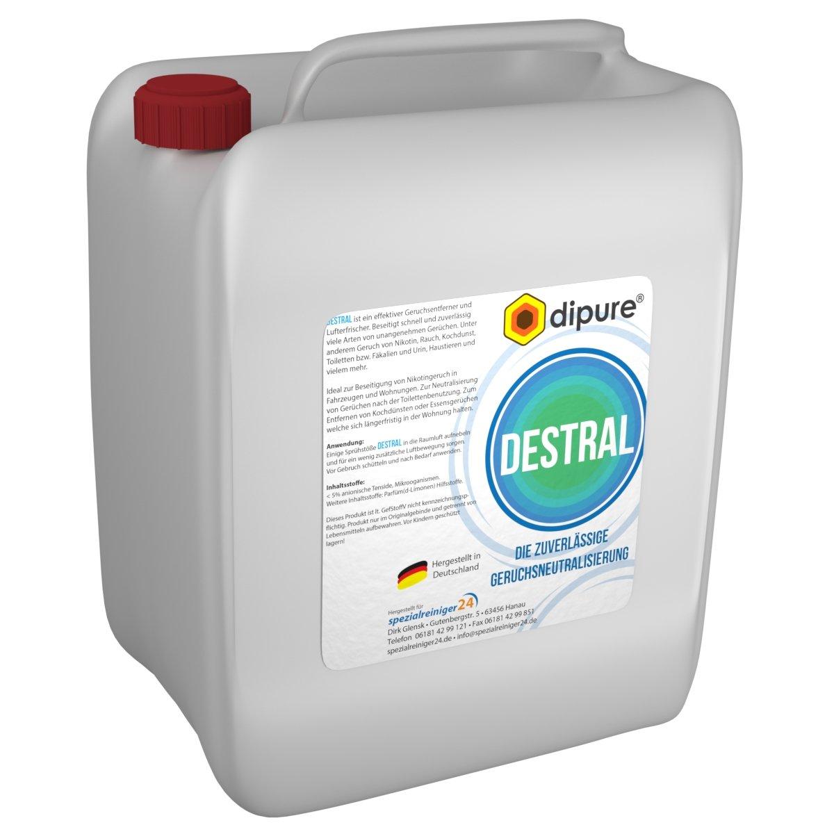 dipure® DESTRAL Geruchsneutralisierer mit Mikroorganismen 10 Liter ...