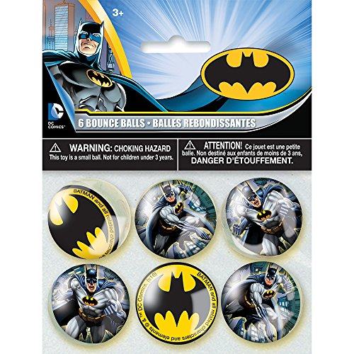 [Batman Bouncy Ball Party Favors, 6ct] (Bouncy Ball Costume)
