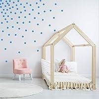 HOPHOP Vinil Decorativo en Forma de Dots 5 cm 240 pcs Color Azul Claro