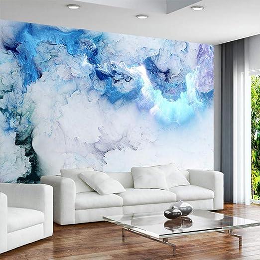 Cartel Autoadhesivo De Papel Tapiz Mural 3D,Nube Azul ...