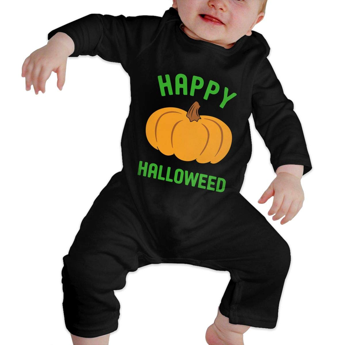 Mri-le1 Toddler Baby Boy Girl Jumpsuit Happy Halloweed Funny Toddler Jumpsuit