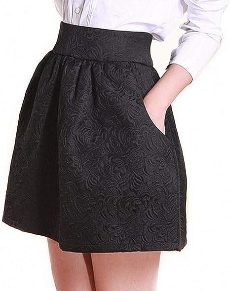 DAHDXD Primavera Verano Falda para Mujer Puff Faldas Midi Vintage ...