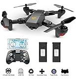 MKT XS809 Foldable Drone FPV wifi Mini Quadcopter VR Remote Control HD live Camera (2MP Camera, Black)