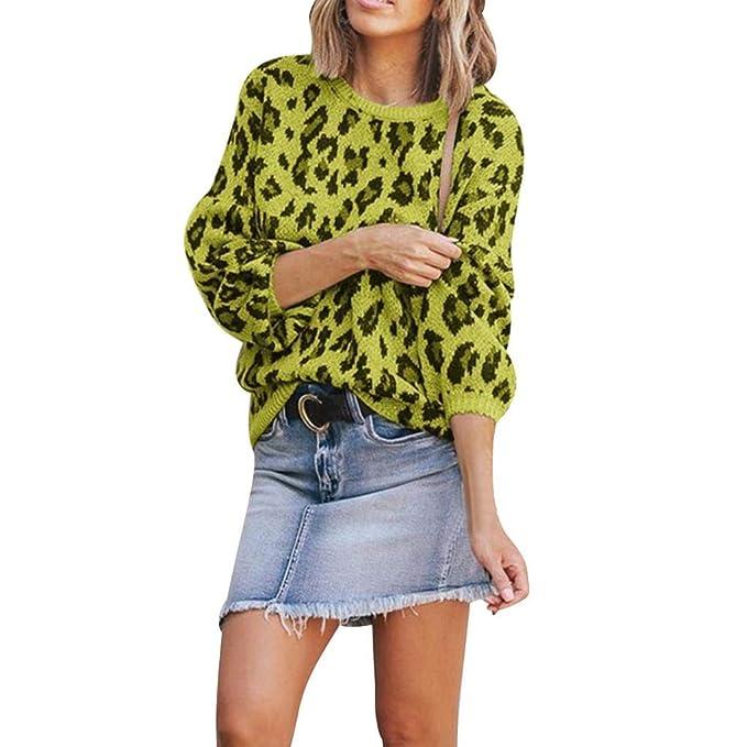 Luckycat Sudadera con Estampado de Leopardo para Mujer, Camiseta de Manga Larga y Top para Mujer: Amazon.es: Ropa y accesorios