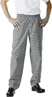 Pantaloni Easyfit - Polycotton check nero. Taglia: M (34 - 36 '). Chef Works