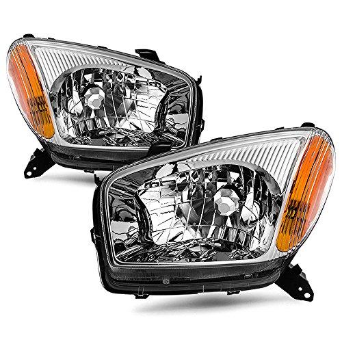 ACANII - For 2001-2003 Toyota RAV4 Sport Replacement Factory Style Headlights RAV-4 Lamps Driver + Passenger - Toyota Headlight Rav4 Driver