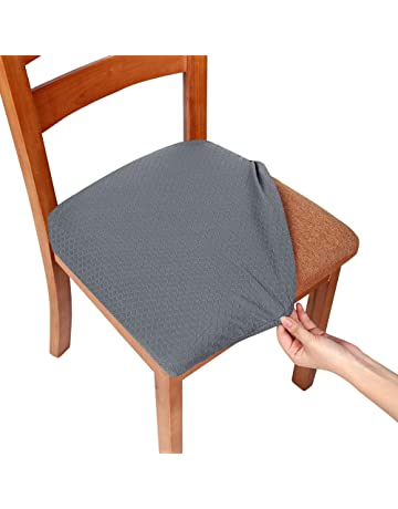 Smiry Stretch Spandex Jacquard Dining Room Chair Seat Covers 910a51e91