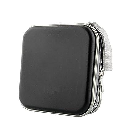 d0de6c13280a Hemore (TM) 40 Dics CD/VCD/DVD Case Storage Organizer Wallet Holder Album  Box (Black) by Meco