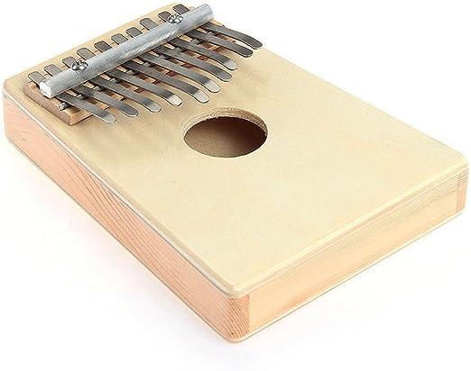 Kalimba pulgar Piano 10 llave Mbira pino hueco Educación Juguete Instrumento Musical, beige: Amazon.es: Instrumentos musicales