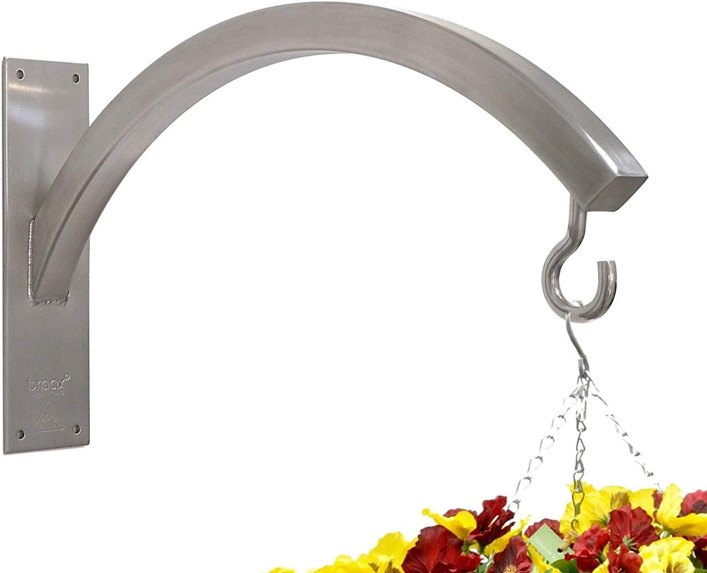 Braax Hangtec Arch Ht 3a09 Stainless Steel Wall Bracket For Hanging Baskets Topiary Balls Bird Feeders Lights Lanterns Wind Chimes Or Similar Amazon Ca Patio Lawn Garden