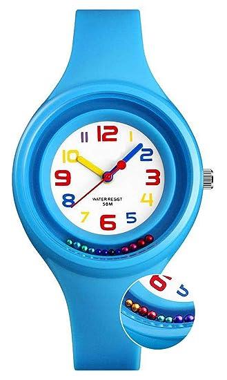 Niños Relojes digitales para niños niña, 5 ATM reloj analógico deporte impermeable para niños Regalos