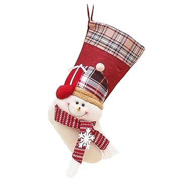 ailiren de calcetines de Navidad decoración colgante para colgar, adornos para árbol de Navidad,