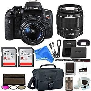 Canon Rebel T6i Digital SLR Camera DigitalAndMore Creator ESSENTIAL Starter Bundle