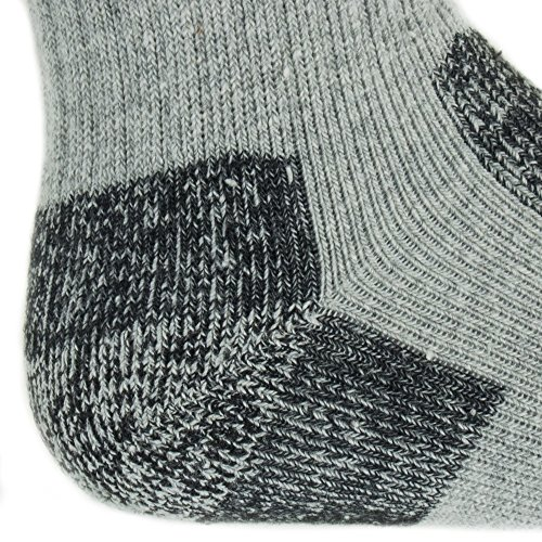 Working Person's 8766 Grey 4-Pack Steel Toe Crew Socks - Made In The USA (Large) by The Working Person's Store (Image #2)'