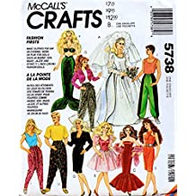 "McCall's 5738 Clothes for Fashion Dolls such as Barbie and Ken, and Other 11.5"" Fashion Dolls Sewing Pattern Vintage 1992 Mermaid Wedding Dress"