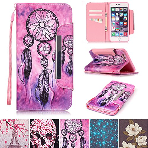 iPhone 5/5S Case, iPhone SE Case, Kickstand Flip [Card Slots] Wallet Cover Double Layer Bumper Shell with Magnetic Closure Strap Protective Case for Apple iPhone 5/5S SE- Net
