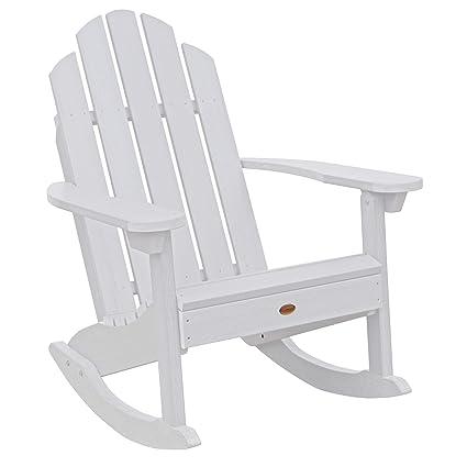 Amazon Com Classic Westport Adirondack Rocking Chair White