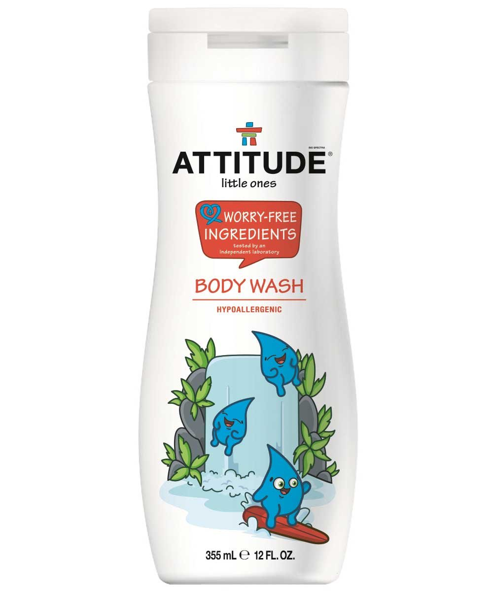 Attitude Kids Body Wash Pack of 2 Hypoallergenic With All Natural Ingredients, 12 fl. oz. Each
