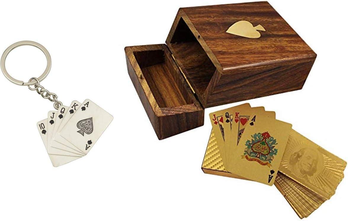 Frescorr- 4K Golden Poker Waterproof Gold Medal Playing Cards, Premium Quality …