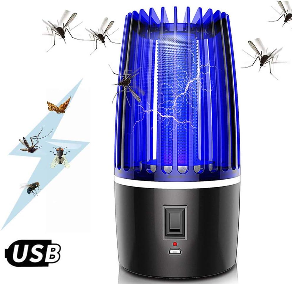 M-TOP UV Lámpara Mata Insectos Electrico, 360°Fotocatalizador Antimosquitos Lampara Sin Cable, USB Recargable, Sin Ruido, No Tóxicos, Sin Radiación,Rechareable 4000mAh