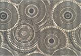Super Area Rugs,Patio Deck Indoor Outdoor Rings Rug Low Maintenance Carpet, Gray 8' 2