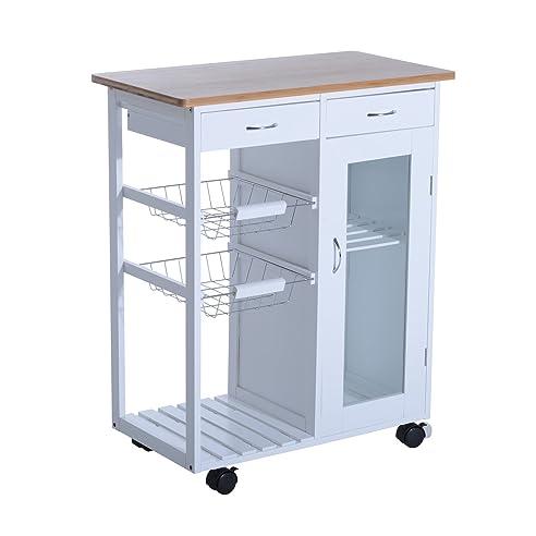 Homcom® Küchenwagen Beistellwagen Küchentrolley Küchenrollwagen